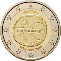 Португалия 2 евро 2009, 10 лет экономическому и валютному союзу