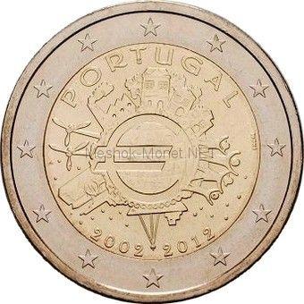 Португалия 2 евро 2012, 10 лет наличному обращению евро