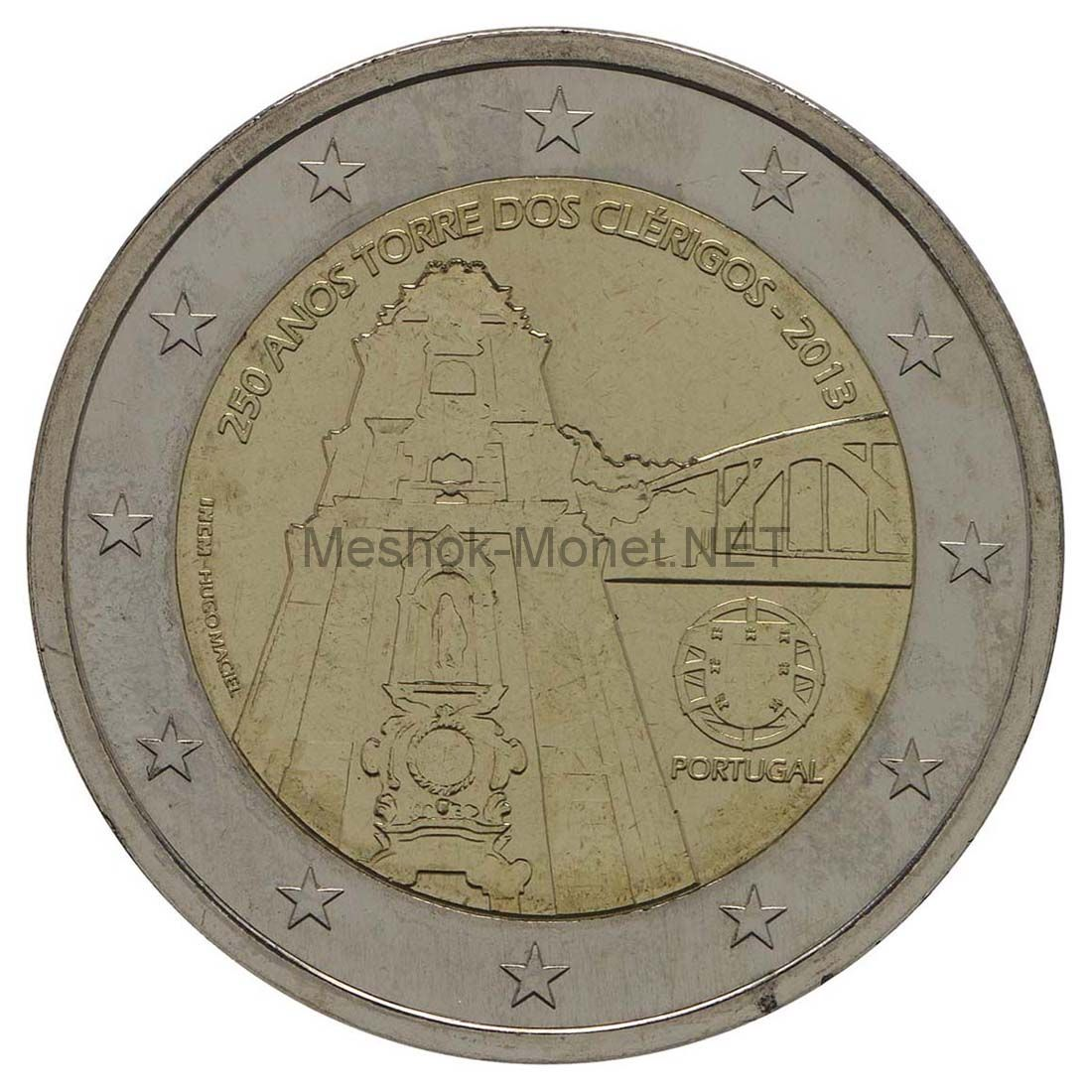 Португалия 2 евро 2013, 250 лет башне Клеригуш