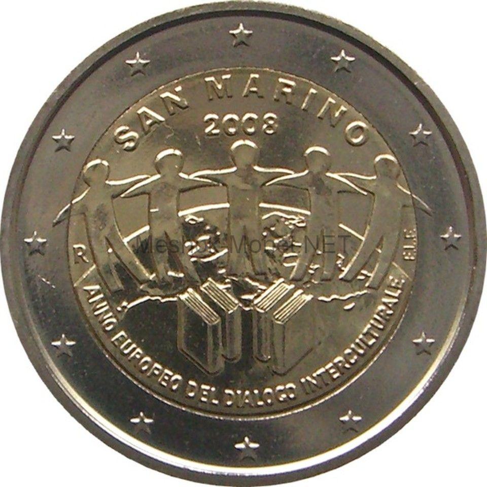 Сан-Марино 2 евро 2008 Год европейского межкультурного диалога (буклет)