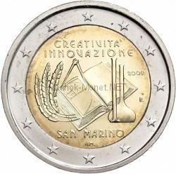 Сан-Марино 2 евро 2009 Год инноваций (буклет)