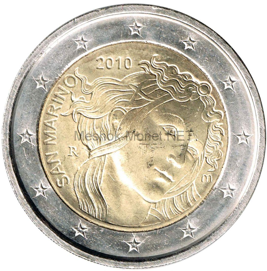 Сан-Марино 2 евро 2010 500 лет со дня смерти Сандро Боттичелли (буклет)