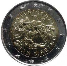 Сан-Марино 2 евро 2013 500 лет со смерти художника Пинтуриккьо (буклет)