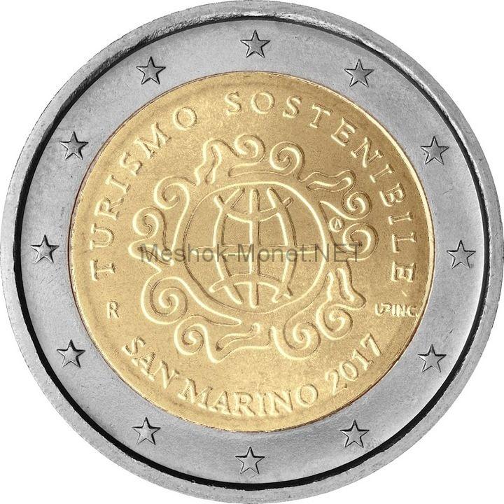 Сан-Марино, 2 евро 2017, Международный год устойчивого туризма в интересах развития