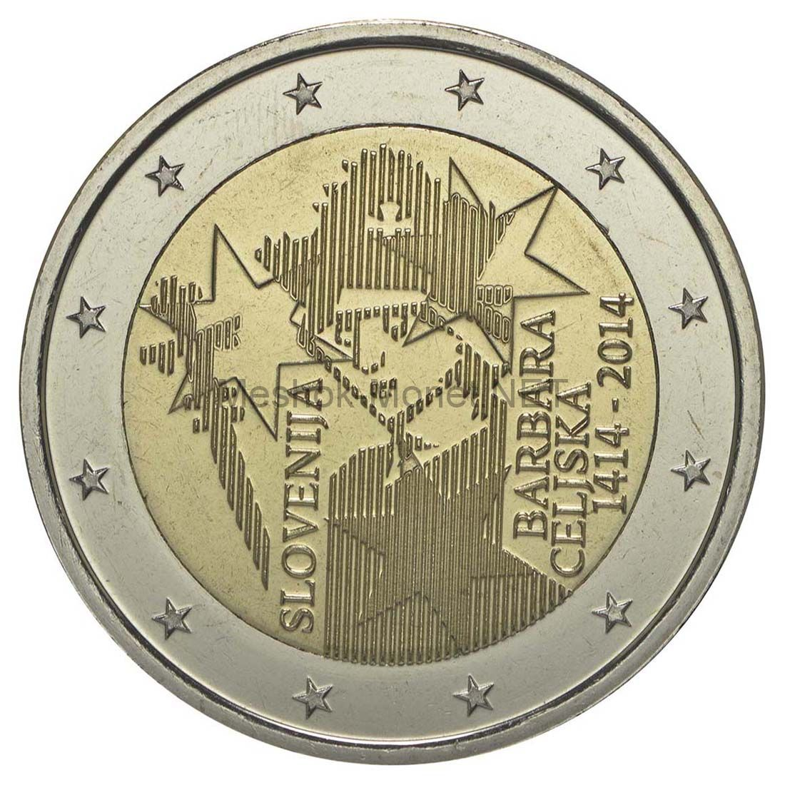 Словения 2 евро 2014 Барбара Цилли