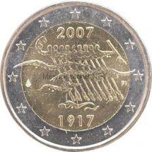 Финляндия 2 евро 2007 Независимость