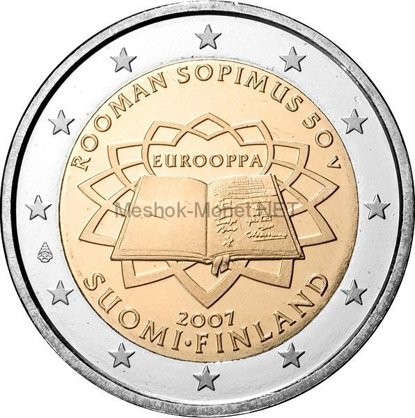 Финляндия 2 евро 2007 Римский договор