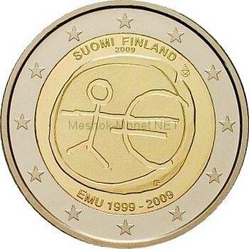Финляндия 2 евро 2009, 10 лет экономическому и валютному союзу
