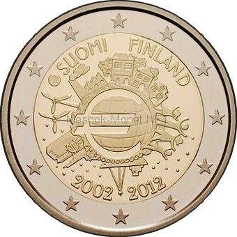 Финляндия 2 евро 2012, 10 лет наличному обращению евро