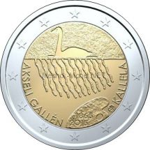 Финляндия 2 евро 2015 Аксели Галлен-Каллела