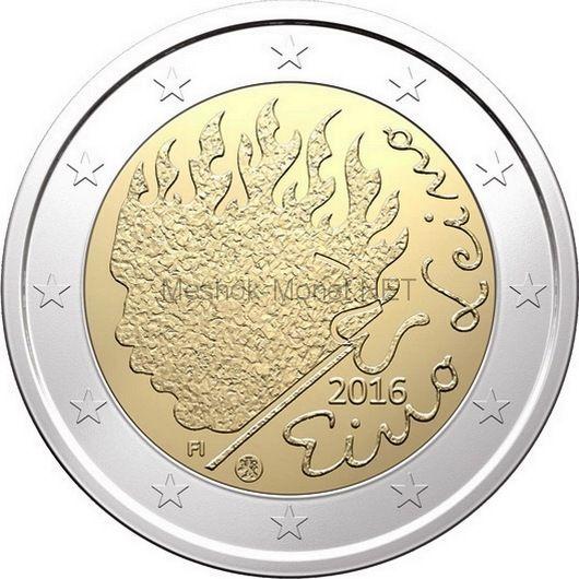Финляндия, 2 евро 2016, Эйно Лейно