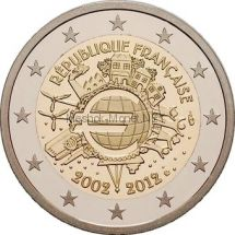 Франция 2 евро 2012, 10 лет наличному обращению евро