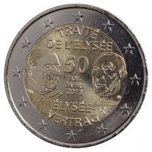 Франция 2 евро 2013 Елисейский договор