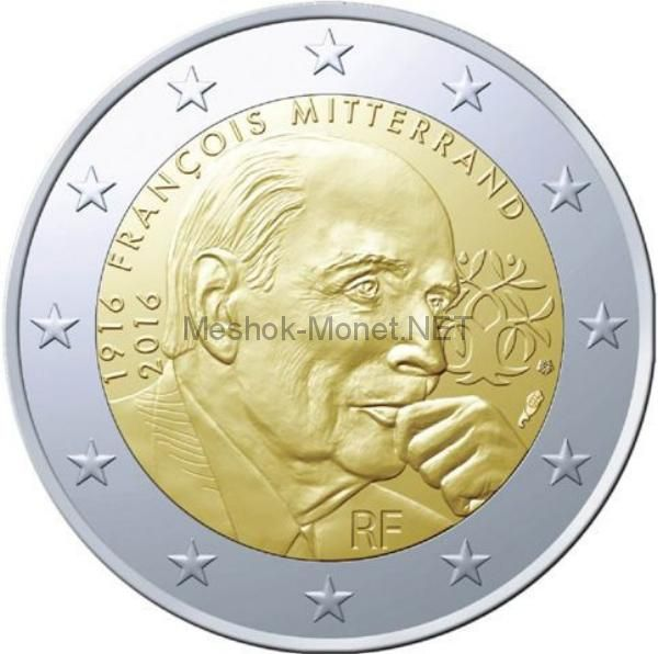 Франция 2 евро 2016, 100 лет со дня рождения Франсуа Миттеран