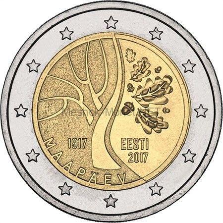 Эстония 2 евро 2017, 100-летие независимости Эстонской Республики