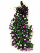 Искусственные висячие розы бутоны 65 см.