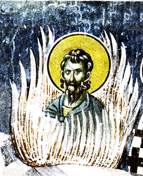 Иуст Римский (рукописная икона)