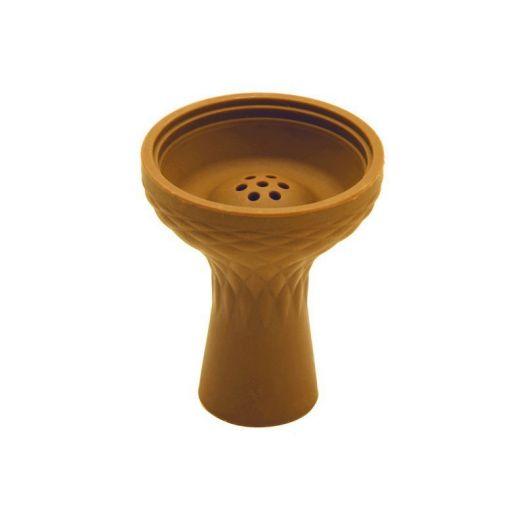 Силиконовая Чаша для кальяна глубокая коричневая