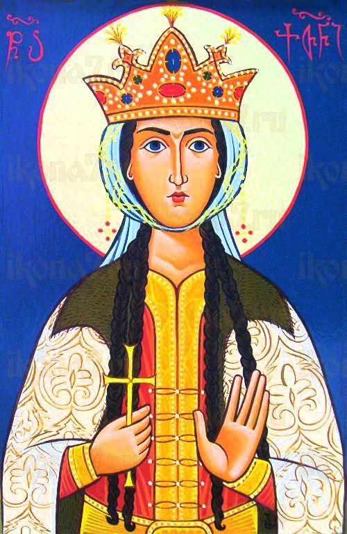 Кетевана Кахетинская (рукописная икона)