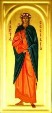 Кикилия  Римская (рукописная икона)
