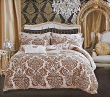 """Комплект постельного белья """"KARNA"""" Сатин DELUX  1.5-спальный   Арт.465/39-15"""