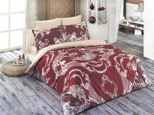 """Комплект постельного белья """"KARNA"""" Сатин DELUX  1.5-спальный   Арт.461/2-15"""