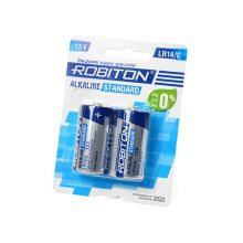 """Алкалиновая батарейка D/LR20 """"Robiton"""" 1.5v 2 шт"""