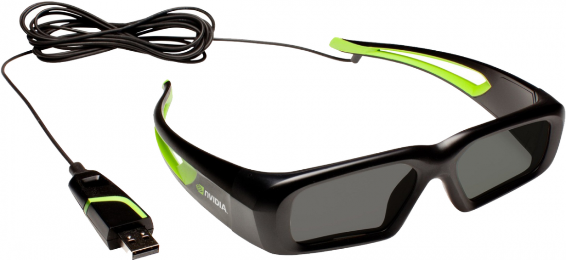 3d vision wired glasses Nvidia
