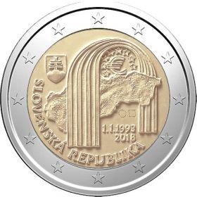 25 лет Словацкой республике 2 евро Словакия 2018