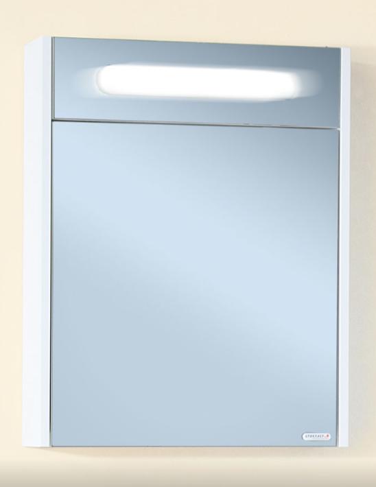 Зеркало-шкаф Бриклаер Палермо 55 белый глянец