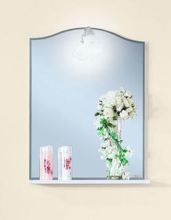 Зеркало Бриклаер Лючия 58 белый глянец