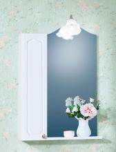 Зеркало со шкафчиком Бриклаер Лючия 65 белый глянец
