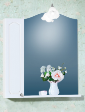 Зеркало со шкафчиком Бриклаер Лючия 78 белый глянец