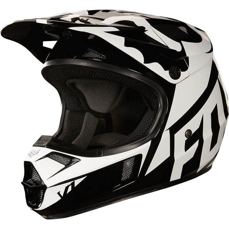 Fox - 2018 V1 Race Youth Helmet Black шлем подростковый, черный