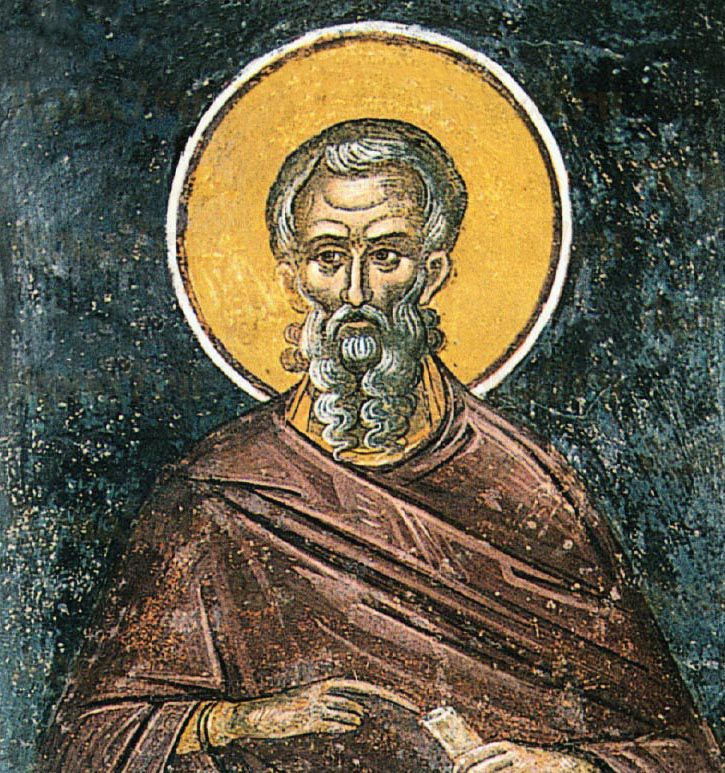 Кир Александрийский (рукописная икона)