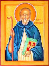 Колумбан Гальский (рукописная икона)