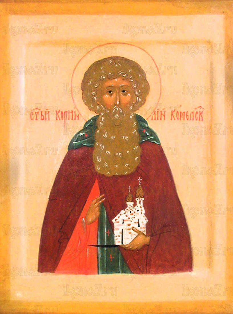 Корнилий Комельский (рукописная икона)