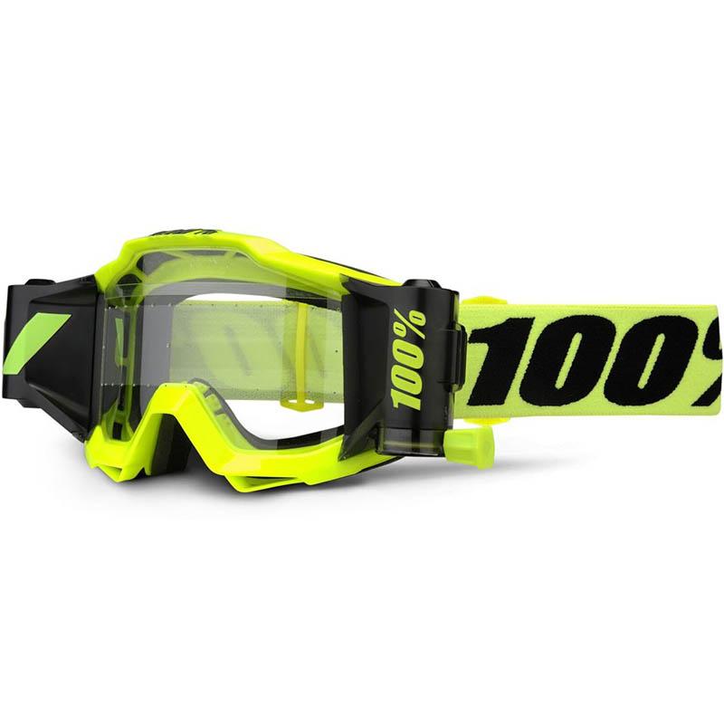 100% - 2017 Accuri Forecast Fluo Yellow Clear Lens очки c прозрачной линзой