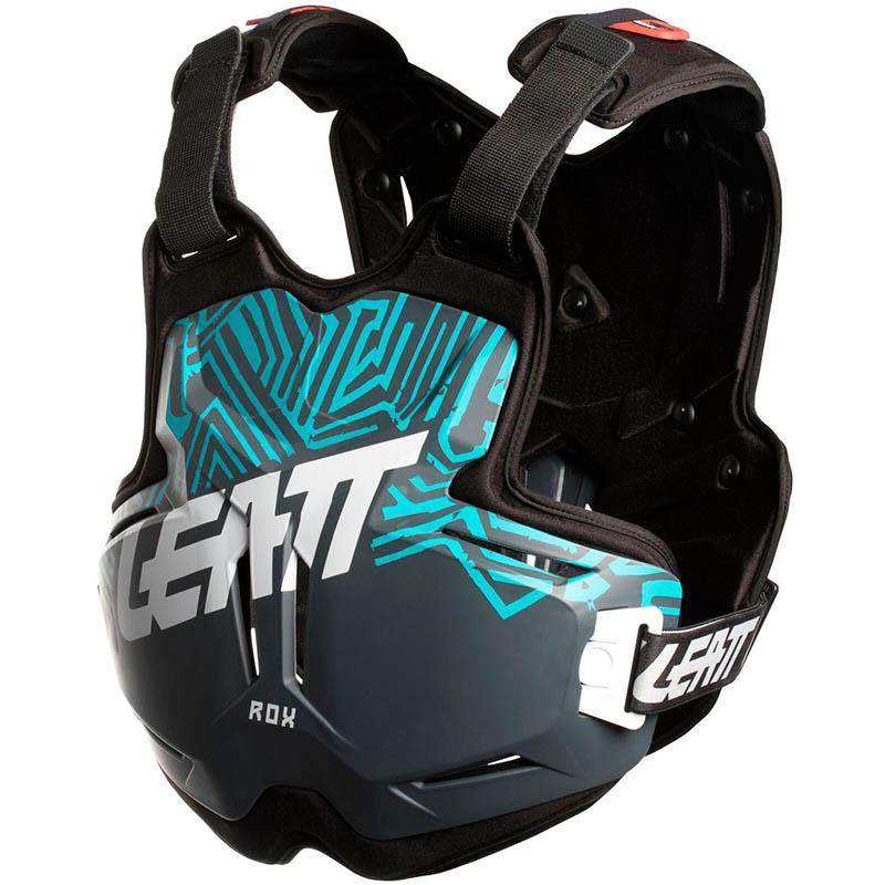 Leatt - 2018 Chest Protector 2.5 ROX Grey/Teal защитный жилет, серо-синий