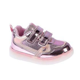 Кроссовки детские Микаса со светодиодами арт. W391-1-2-21, цвет розовый, размер 21