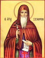 Ксенофонт Константинопольский (рукописная икона)