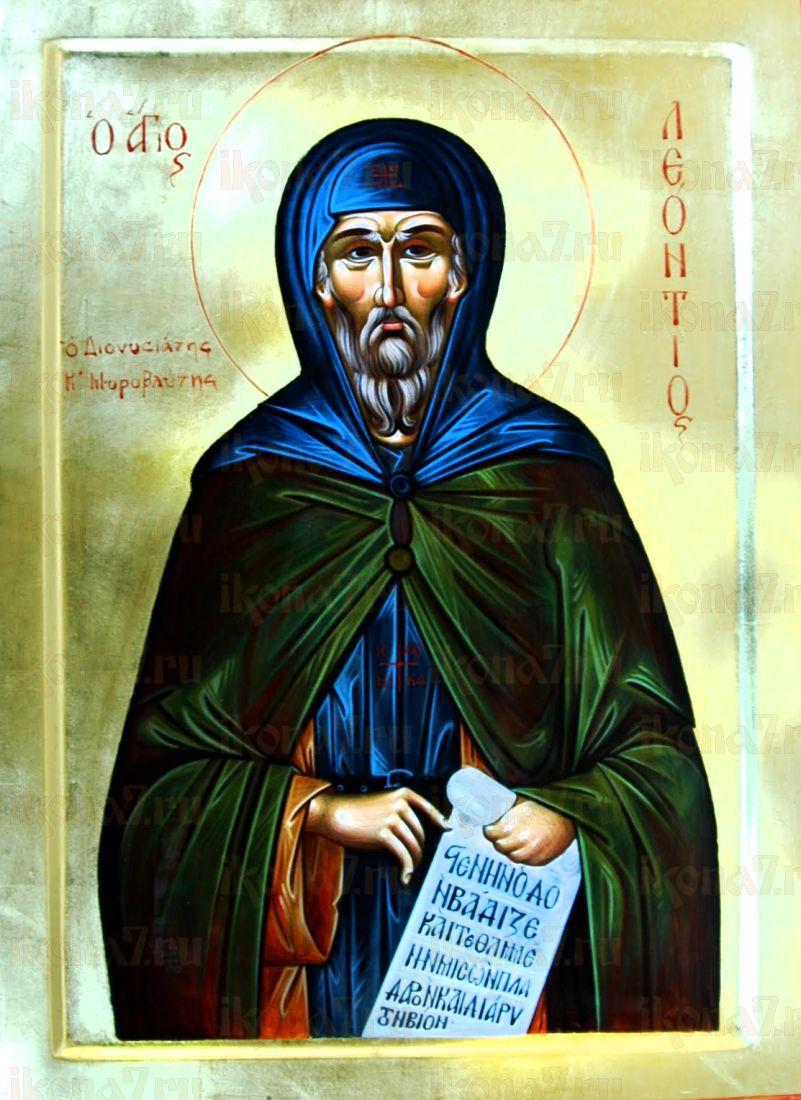 Леонтий Афонский (Прозовливый) (рукописная икона)