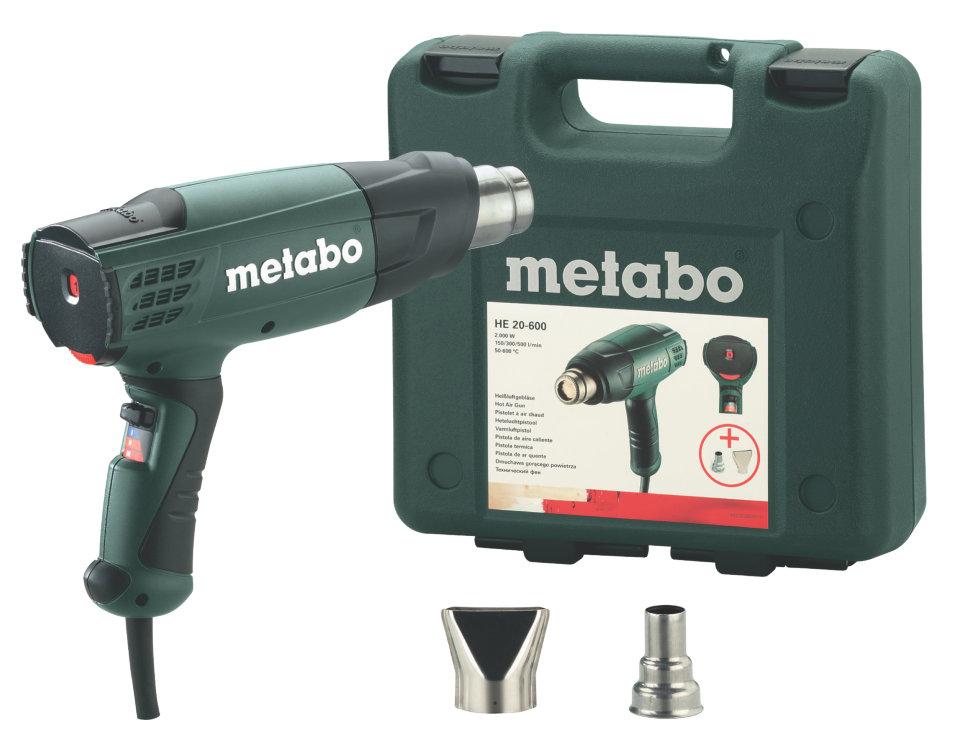 Фен технический Metabo He 20-600 с насадками (602060500)