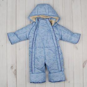 Комбинезон для мальчика, рост 68-74 см, принт голубой Т-19/1_М