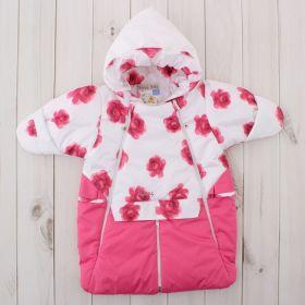 Конверт-трансформер для девочки, рост 62 см, цвет розовый 416т_М