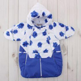 Конверт-трансформер для девочки, рост 62 см, цвет синий 416т_М