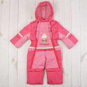 Комбинезон для девочки, рост 80 см, цвет розовый Ш-0039_М