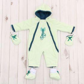 Комбинезон детский с носочками и рукавичками, рост 74 см, цвет лайм 40-8501 _М