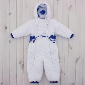 Комбинезон детский, рост 74 см, цвет белый/синий 245т_М
