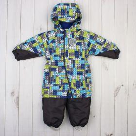 """Комбинезон для мальчика """"МАКС"""", рост 80 см (48), принт голубой КМ21117-12_М"""
